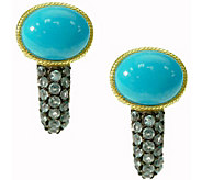 Judith Ripka 14K Clad Turquoise & Blue Topaz Earrings - J376592