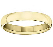 Mens 18K Yellow Gold 4mm Polished Comfort FitWedding Band - J379292