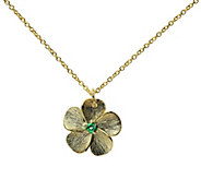 Adi Paz Gemstone Accent Flower Pendant with Chain, 14K Gold - J379592