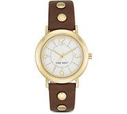 Nine West Ladies Weylen Brown Strap Watch - J380992