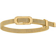 Italian Gold 7 Oval Buckle Adjustable Bracelet14K, 12.0g - J381592