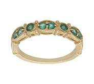 Judith Ripka 14K Gold Emerald Band Ring - J382392