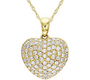 Affinity 14K Gold 1/2 cttw Diamond Heart Pendant w/ Chain - J383692