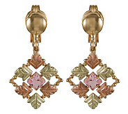 Black Hills Checkerboard Pink Helenite Earrings , 10K/12K/14K - J106693