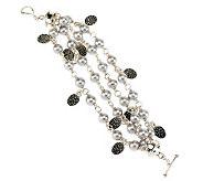 Michael Dawkins Sterling Silver Cultured Pearl Multi-Strand 6-3/4 Bracelet - J268793
