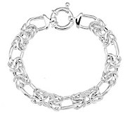 UltraFine Silver 7-1/4 Fancy Woven Byzantine Bracelet, 18.4g - J281893