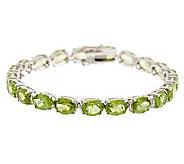 27.60 ct tw Peridot Oval 8 Sterling Tennis Bracelet - J282193