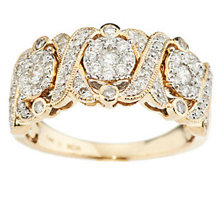 Product image of XOXO Design Diamond Ring, 14K Gold, 3/4 cttw, by Affinity