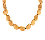 Oro Nuovo 18 Polished Nugget Necklace with Magnetic Clasp, 14K - J286493