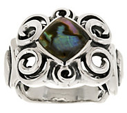 Carolyn Pollack Whirlwind Sterling Abalone Doublet Ring - J287893