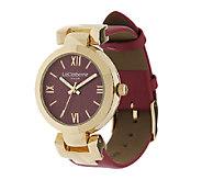 Liz Claiborne New York Strap Watch w/ Tonal Dial Tonal Dial - J288893