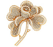 Joan Rivers Hearts & Flowers Pave Brooch - J296593