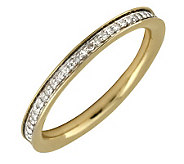 Simply Stacks Sterling Diamonds 18K Gold-Plated 2.25mm Band - J299293