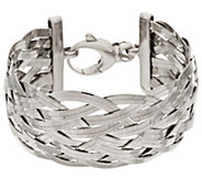 Bronze Solid Braided Herringbone Bracelet by Bronzo Italia - J317593