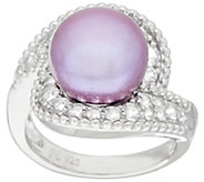 Honora Cultured Pearl 11.0mm and White Topaz Sterling Ring - J319993