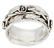 Sterling Silver Rose Design Spinner Ring by Or Paz - J321993