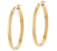 EternaGold 1-1/4 Classic Domed Oval Hoop Earrings 14K - J322993