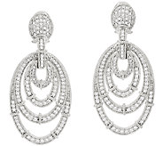 Judith Ripka Sterling Diamonique Oval Earrings - J323193