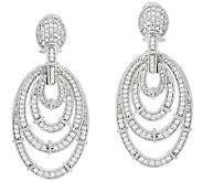 Judith Ripka Sterling Diamonique Oval Earrings - J323193