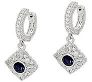 Judith Ripka Sterling Iolite & Diamonique Earrings - J323393