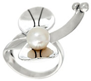 Sterling Silver and Cultured Pearl Dragonfly Ring by Fritz Casuse - J323893