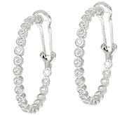 Judith Ripka Sterling 118 Facet Diamonique Hoop Earrings - J324393