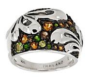 As Is Ann King Sterling 0.70 cttw Gemstone Fleur Ring - J325893
