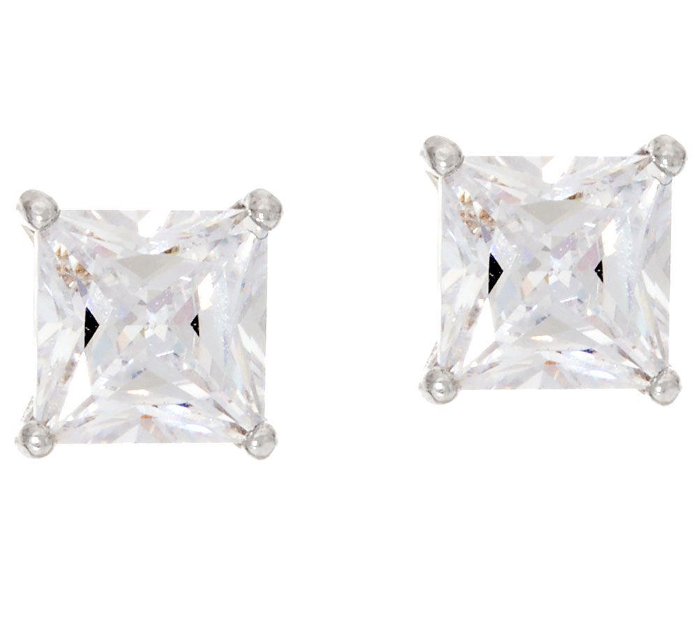 Diamonique 200 Cttw Stud Earrings, Sterling  J326093