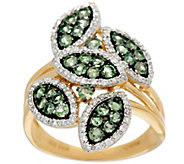 Marquise Shaped Pave Alexandrite & Diamond Ring 14K, 0.80 cttw - J328293