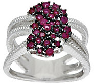 Precious Gemstone Waterfall Design Sterling Ring, 0.65 cttw - J329193