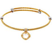 DeLatori Goldtone Cable Bracelet w/ Crystal Qaurtz Charm - J334393