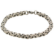 Stainless Steel Mens Byzantine Boxed Bracelet - J337593