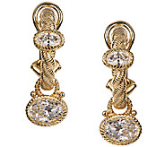 Judith Ripka Sterling/14K Clad 2.80cttw Diamoni que Earrings - J338493