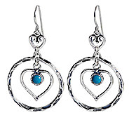 Or Paz Sterling Heart Design Dangle Earrings - J338593
