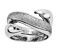 Sterling Textured & Polished Swirl Wrap Ring - J338893