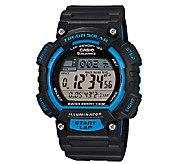 Casio Mens Black and Blue Tough Solar RunningWatch - J339293