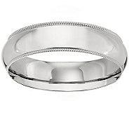 Platinum 6mm Milgrain Comfort Fit Wedding BandRing - J340293