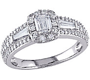 Multi-Cut Halo Diamond Ring, 1.00cttw, 14K Gold, by Affinity - J340893