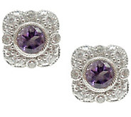Judith Ripka Sterling Diamonique & Gemstone Stud Earrings - J340993