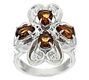 Carolyn Pollack Sterling 1.80ct Cognac CitrineRing - J341493