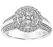 Contemporary Halo Diamond Ring, 14K, 7/10 cttw,by Affinity - J345093