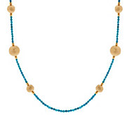 As Is Bronze 36 Gemstone & Bead Station Necklace by Bronzo Italia - J346893