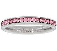 Stainless Steel Birthstone Eternity Crystal Band Ring - J348193