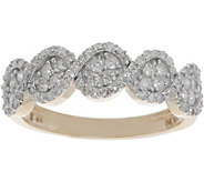 Pave Round White Diamond Ring, 14K Gold 1/2 cttw by Affinity - J349993