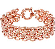 As Is Bronze Triple Rolo Link Bracelet By Bronzo Italia - J350793