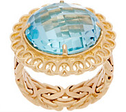 14K Gold Sky Blue Topaz Ring - J351193