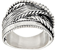 Or Paz Sterling Silver Multi-textured Highway Ring - J354993