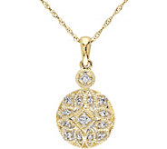 Beaded Filigree Diamond Pendant, 14K, 1/8 cttw,by Affinity - J376493