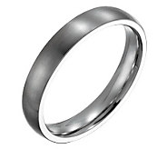 Forza Mens 4mm Steel Brushed Ring - J109494