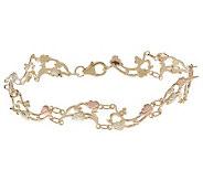 Black Hills Vine and Leaf Design Bracelet, 10K/ 12K Gold - J110794